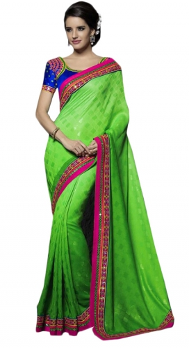 Green Kutch Mirrorwork Saree