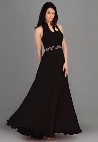 semi casual gown