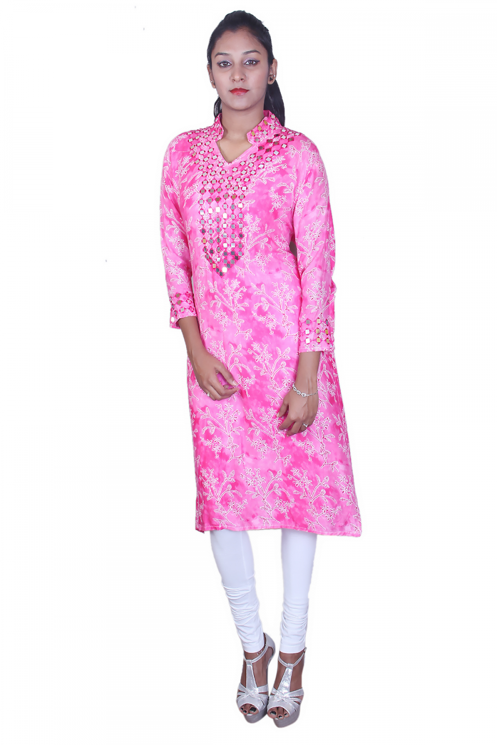 Pink soft cotton kurta
