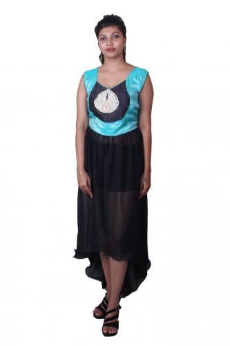 Blue n black dress