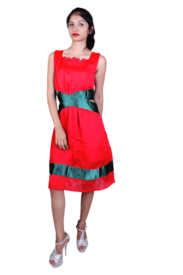 Red cut-out dress