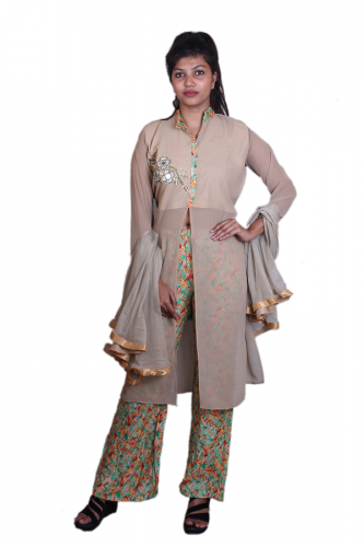 Brown salwar set