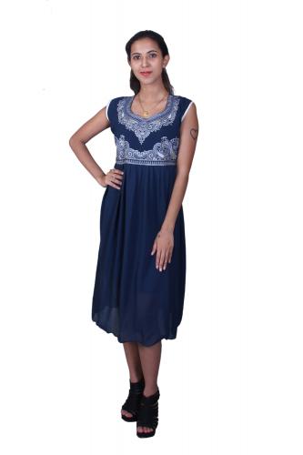 Blue western dress