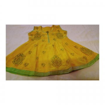 Kids Yellow Cotton Frock
