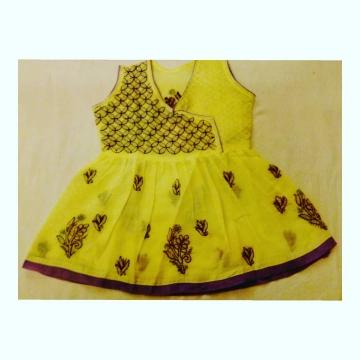 Kids Yellow Cotton Frock