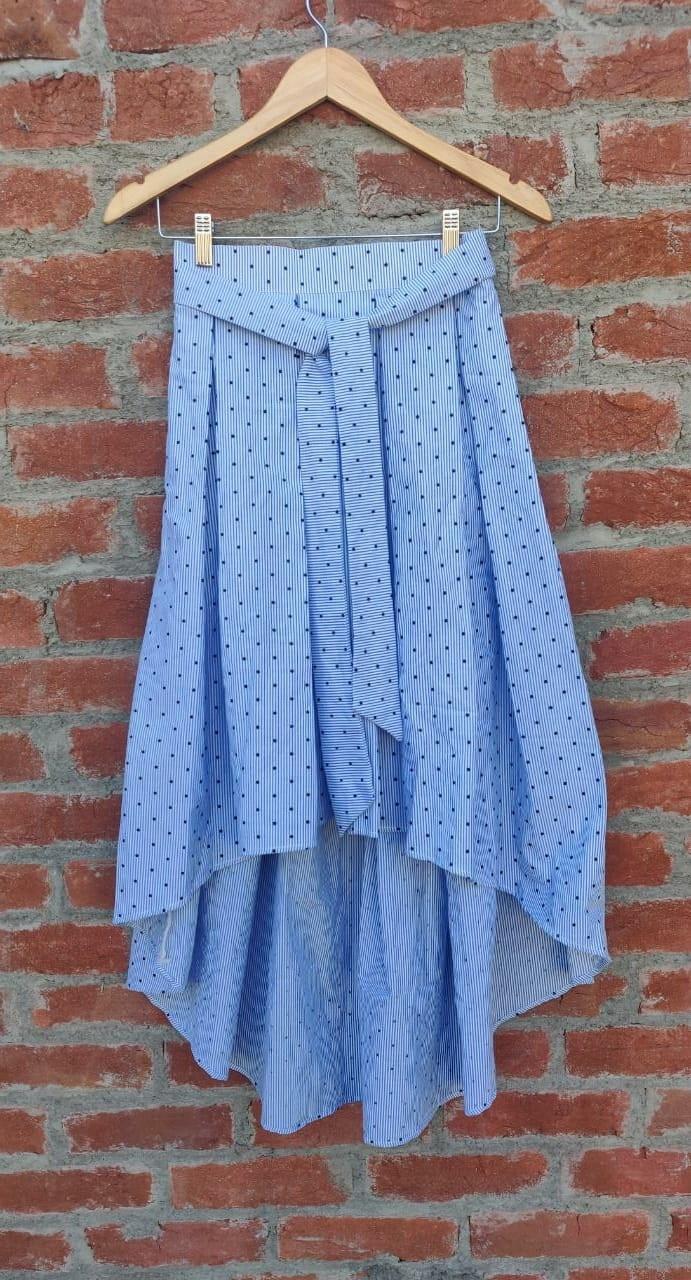 Dora blue pleats skirt