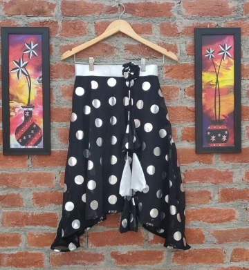 Dora Black with silver Dot skirt