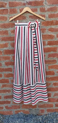 Dora White Red Stripe skirt