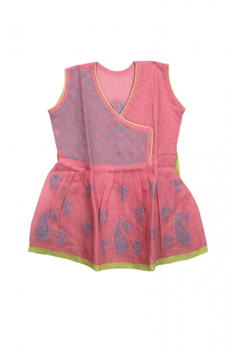 Kid's Light Pink Cotton Frock
